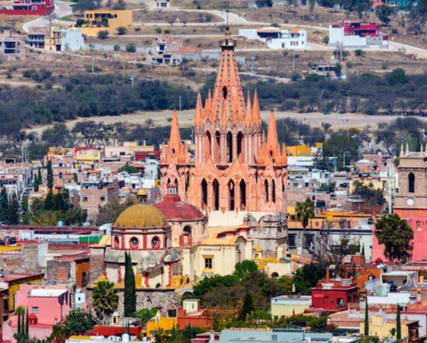 Image of San Miguel de Allende, a colonial-era city in Mexico's central highlands.