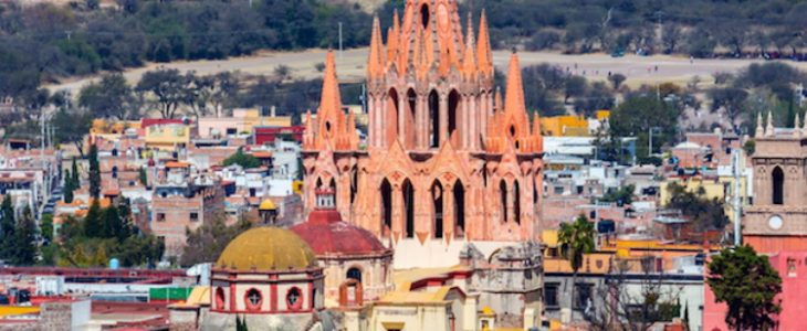 Image of San Miguel de Allende, a colonial-era city in Mexico's central highlands.