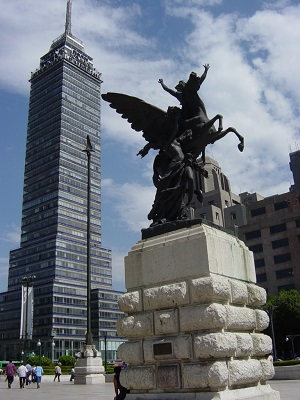 Image of the Torre Latinoamericana is a skyscraper in downtown Mexico City.